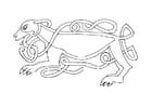 Dibujo para colorear Perro celta