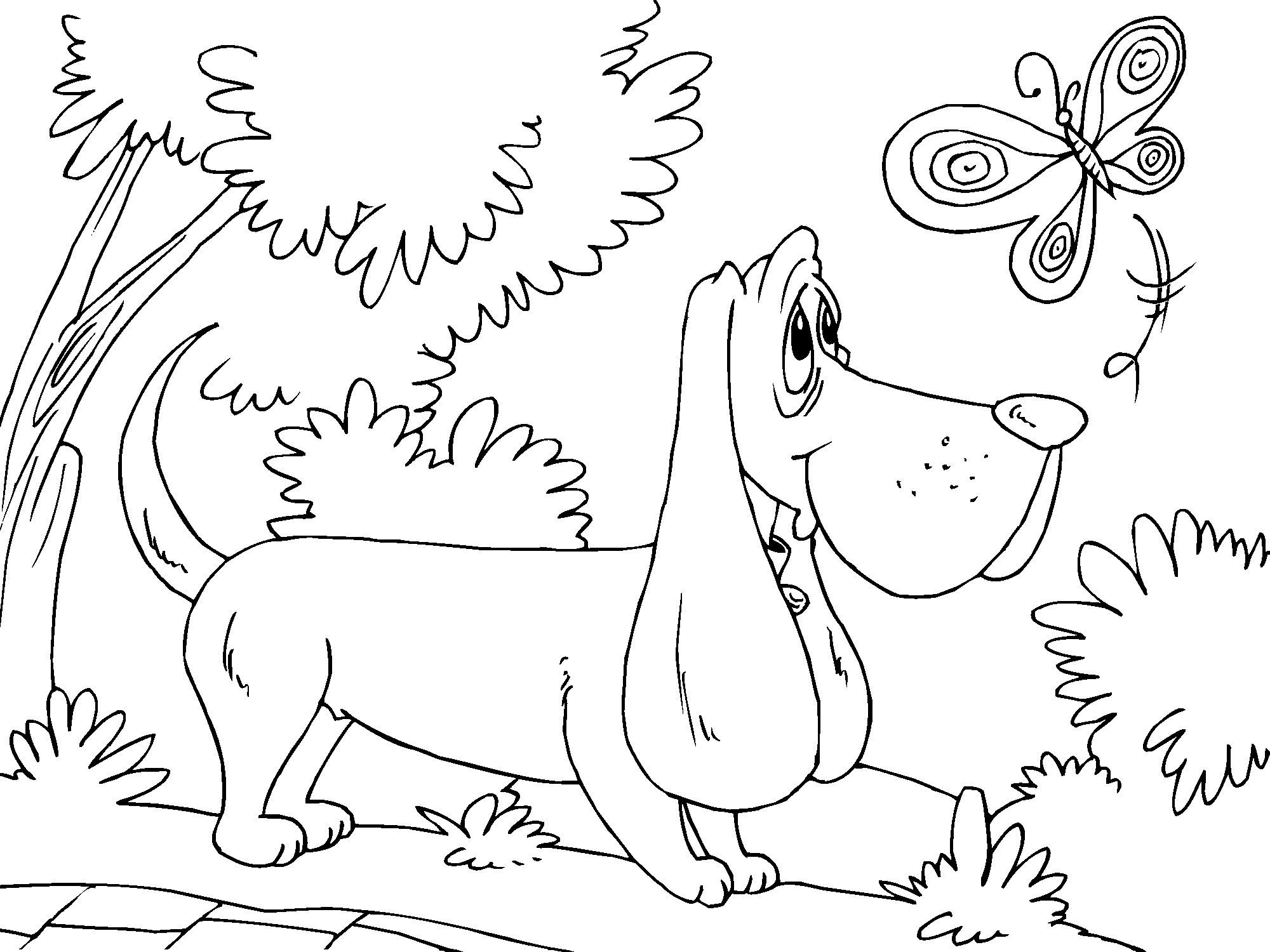 Dibujo para colorear perro de caza - Img 22678