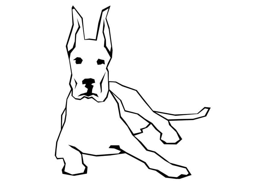Dibujo para colorear Perro - Img 10005