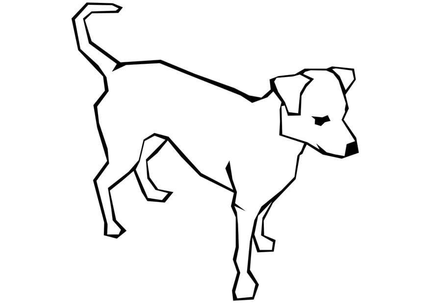 Un Dibujo De Un Perro Para Colorear: Dibujo Para Colorear Perro