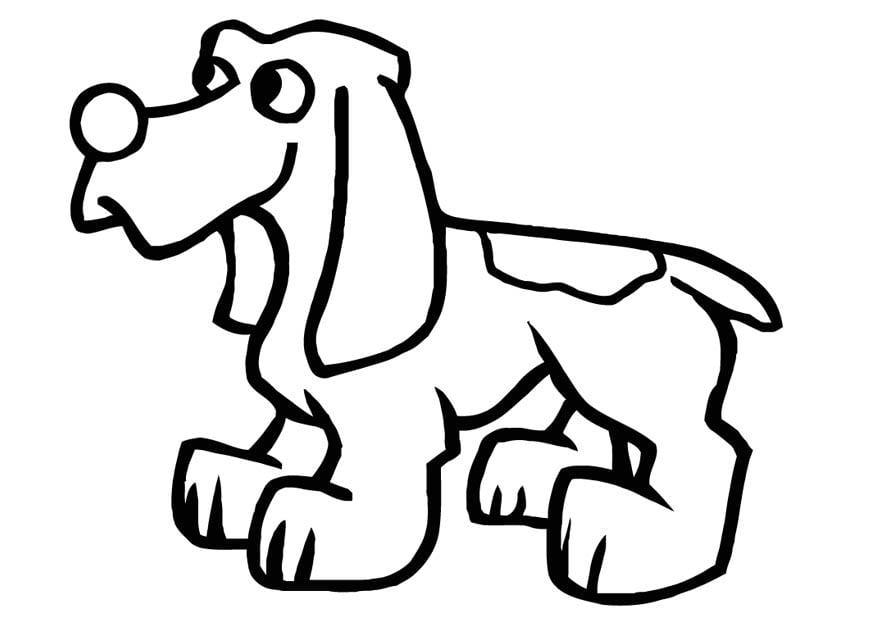 Dibujo para colorear Perro - Img 16592