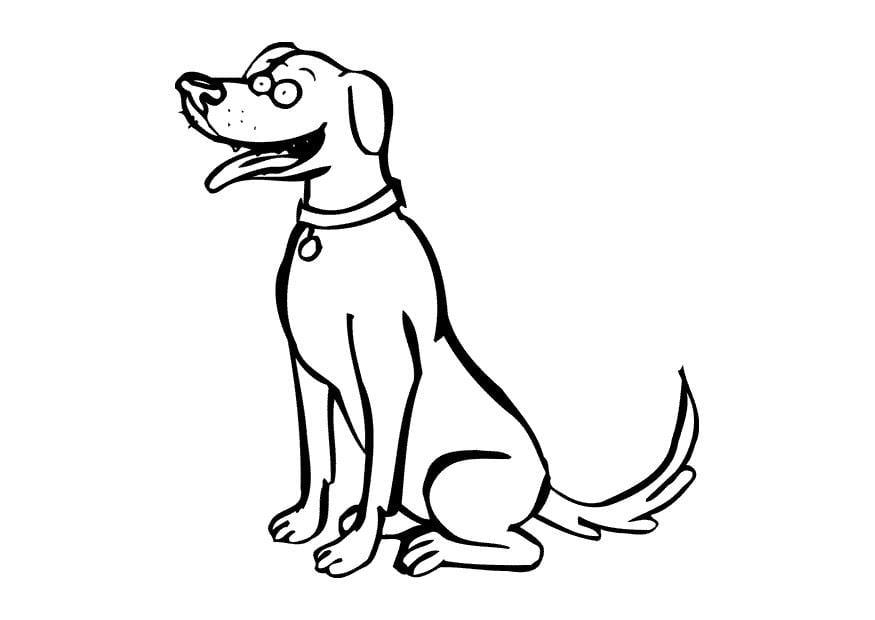 Dibujo para colorear Perro - Img 9684