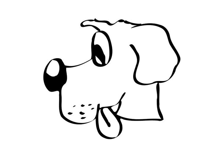 dibujo para colorear perro  dibujos para imprimir gratis