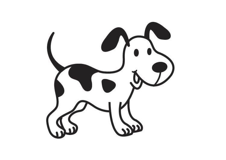 Dibujo para colorear perro - Img 17537