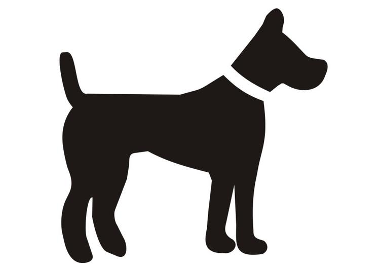 Dibujo para colorear perro - Img 19670