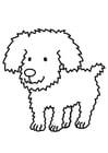 Dibujo para colorear perro