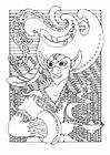 Dibujo para colorear personaje de cuento de hadas