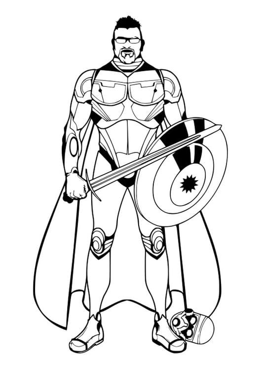 Dibujo para colorear personaje de cuento - Img 26999