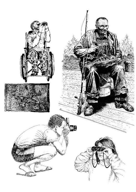 Dibujo para colorear Personas en la naturaleza - Img 8556