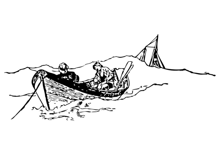Dibujos Para Colorear Un Pescador: Dibujo Para Colorear Pescador