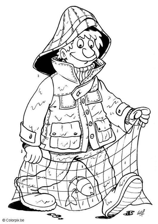 Dibujo para colorear Pescador - Img 5702