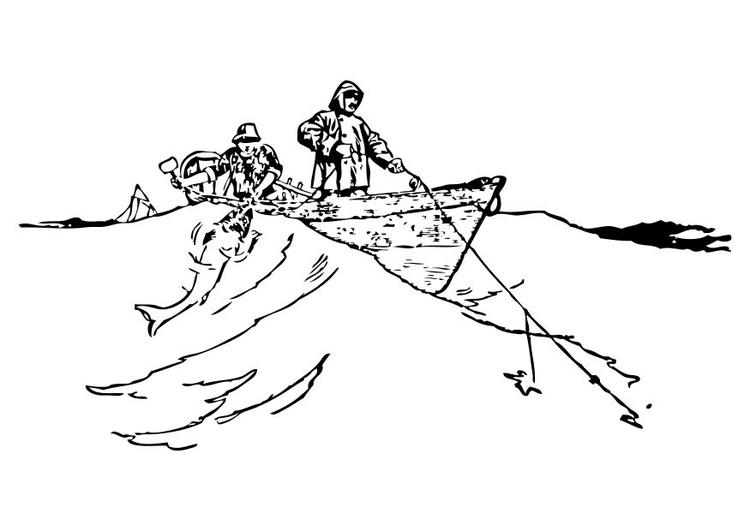 Dibujo para colorear Pescadores - Img 10517