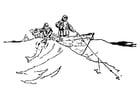 Dibujo para colorear Pescadores