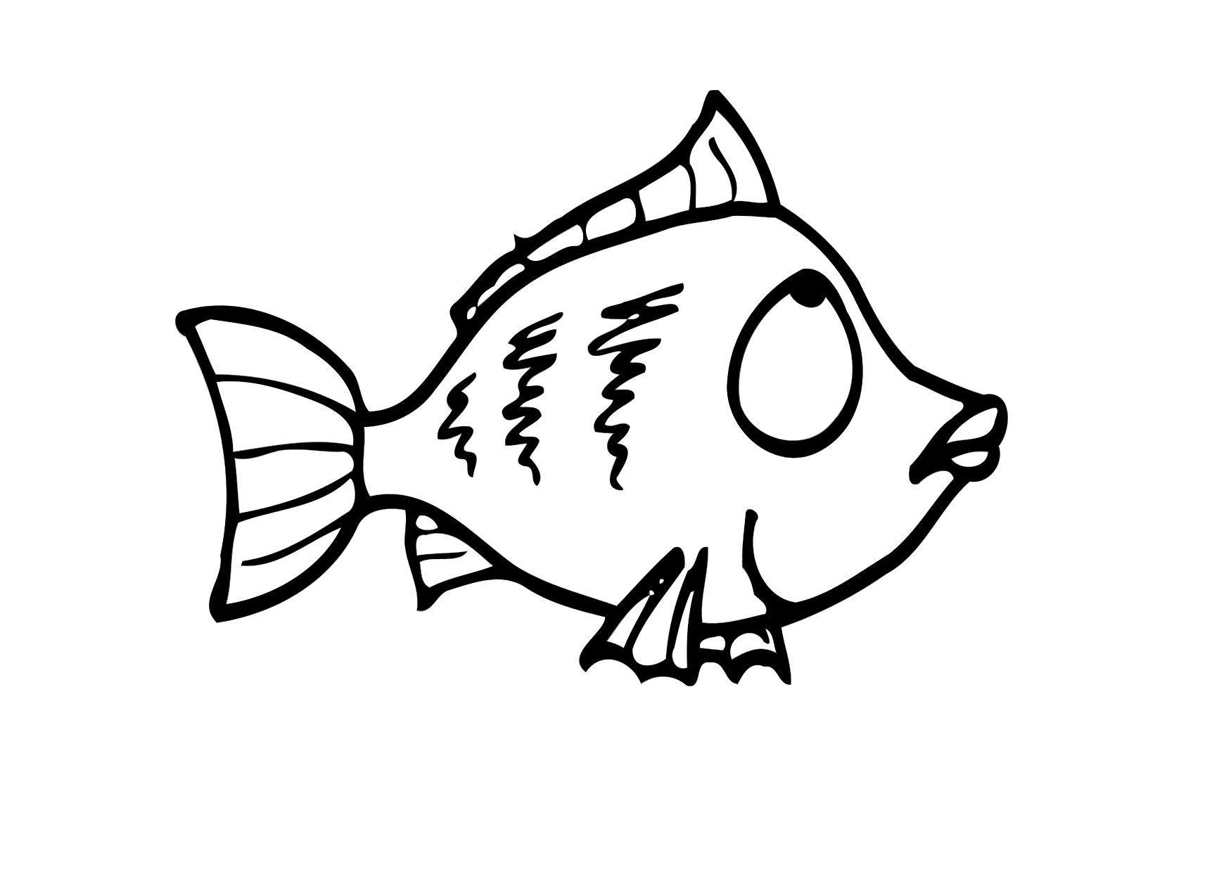 Dibujo para colorear pez img 12293 for Pesciolini da colorare e stampare