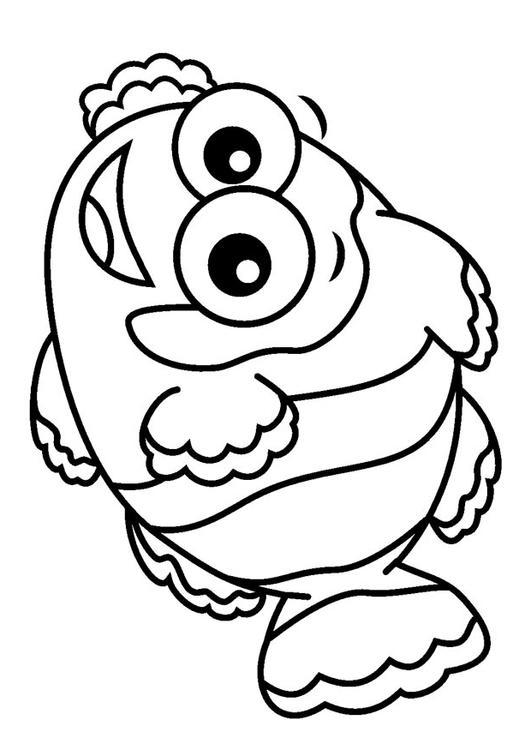 Dibujo para colorear pez payaso img 23084 for Pesce nemo da colorare