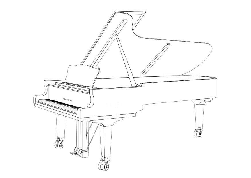 dibujo para colorear piano de cola img 29673