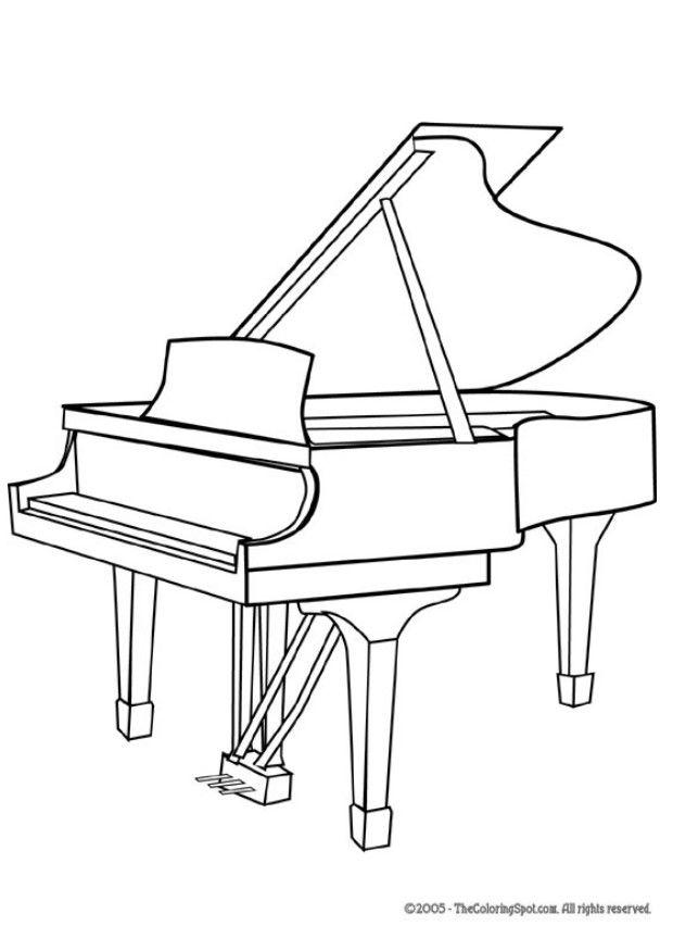 Dibujo para colorear piano de cola img 5959 for Disegno del piano online