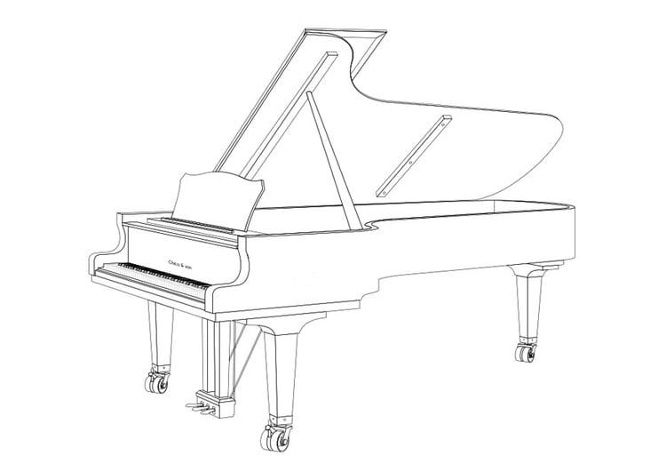 Dibujo para colorear piano de cola img 29673 - Coloriage piano ...