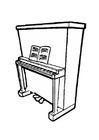 Dibujo para colorear Piano