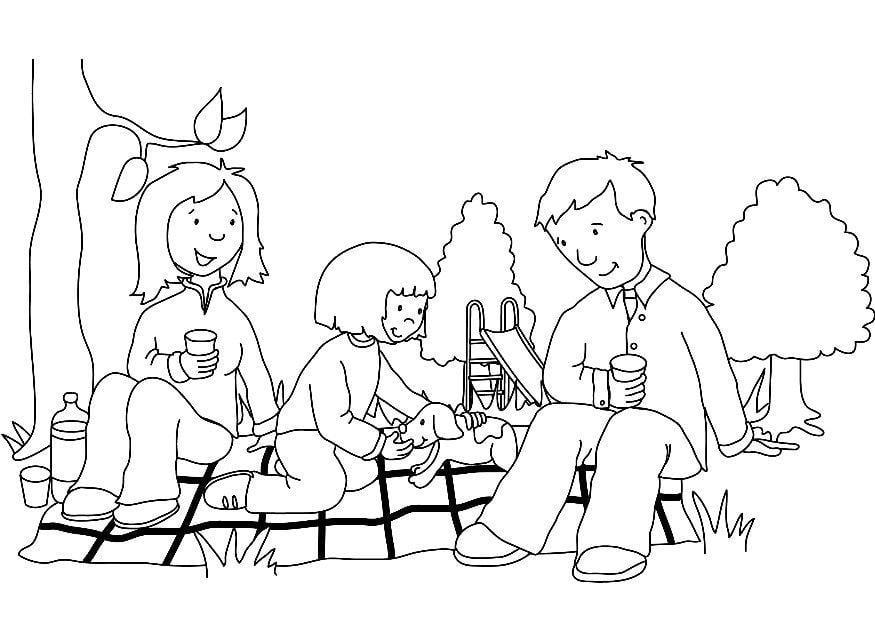 Dibujo para colorear picnic img 7322 for Picnic scene coloring page