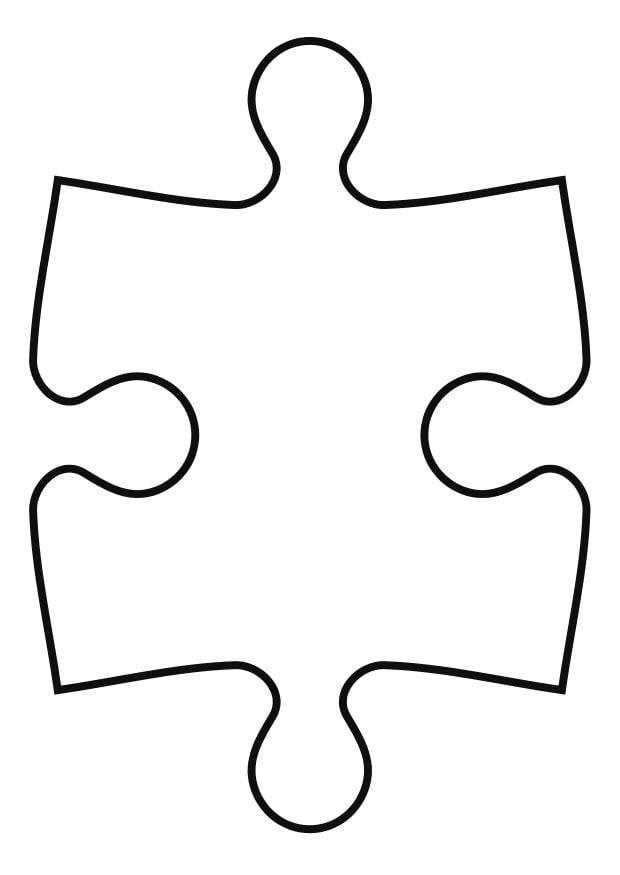 Dibujo para colorear pieza de puzle - Img 27119