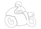 Dibujo para colorear piloto de motos