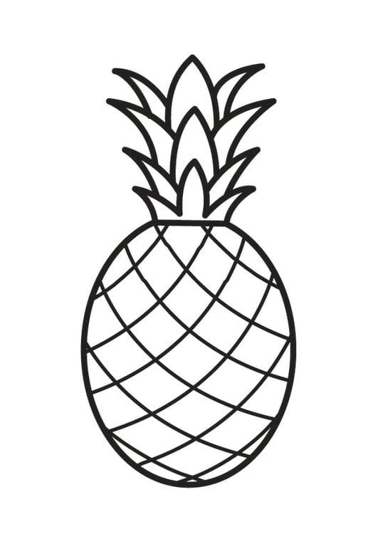 Dibujo Para Colorear Piña Img 23170