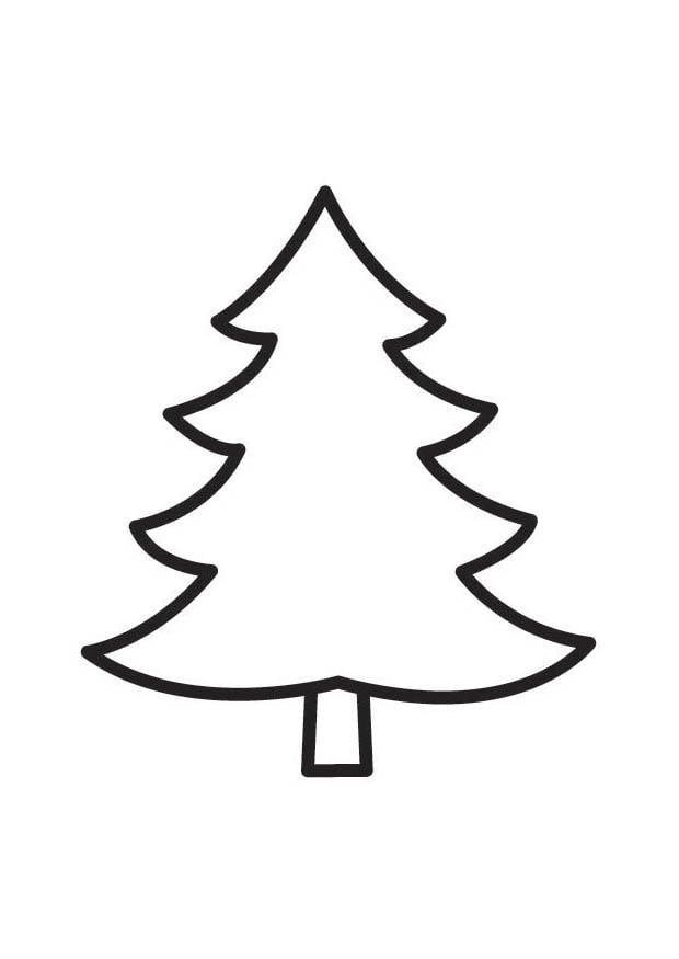 Dibujo para colorear pino img 18335 - Modele sapin de noel a decouper ...