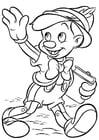 Dibujo para colorear Pinocho