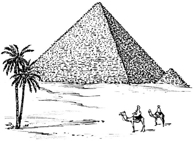 Dibujo para colorear Pirámide - Img 15946