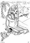 Dibujo para colorear Pirámides de Egipto