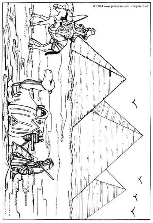 Dibujo para colorear Pirámides - Img 6455