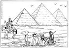 Dibujo para colorear Pirámides