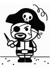 Dibujo para colorear pirata de carnaval
