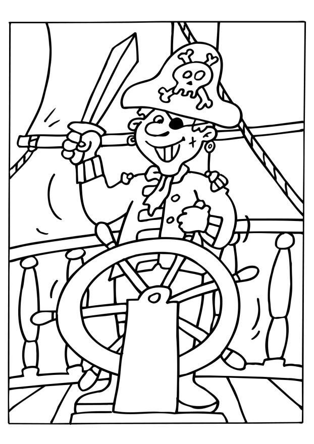dibujo para colorear pirata - img 6534