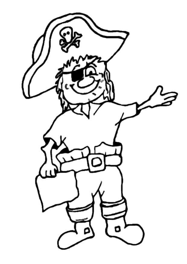 dibujo para colorear pirata  img 9071