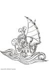 Dibujo para colorear Pirata