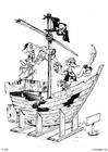 Dibujo para colorear Piratas - barco pirata