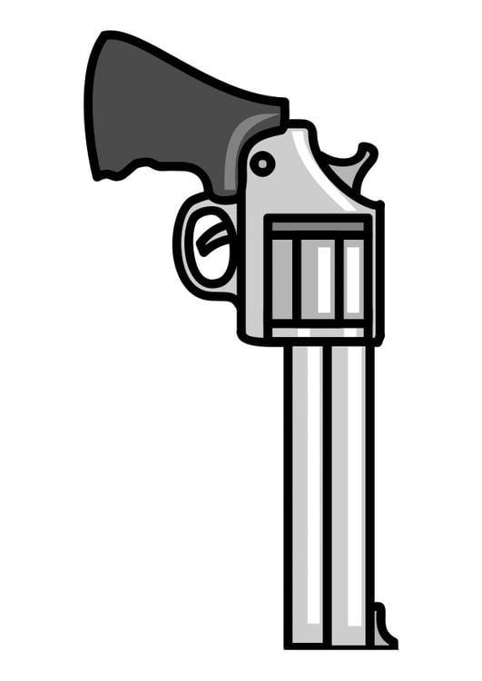 dibujo para colorear pistola img 29924