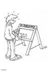 Dibujo para colorear Pizarra con números