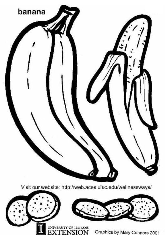 Dibujo para colorear Plátano - Img 5783