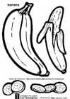 Dibujo para colorear Plátano