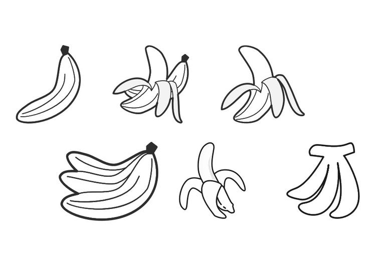 Dibujo para colorear plátanos - Img 30281