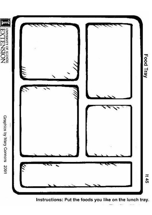 Dibujo Para Colorear Plato Img 22204
