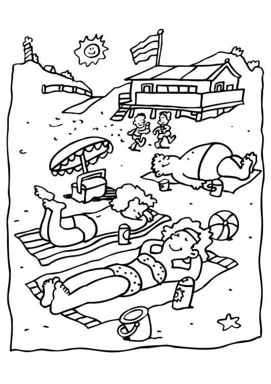 Dibujo para colorear Playa - Img 6581