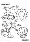 Dibujo para colorear Playa