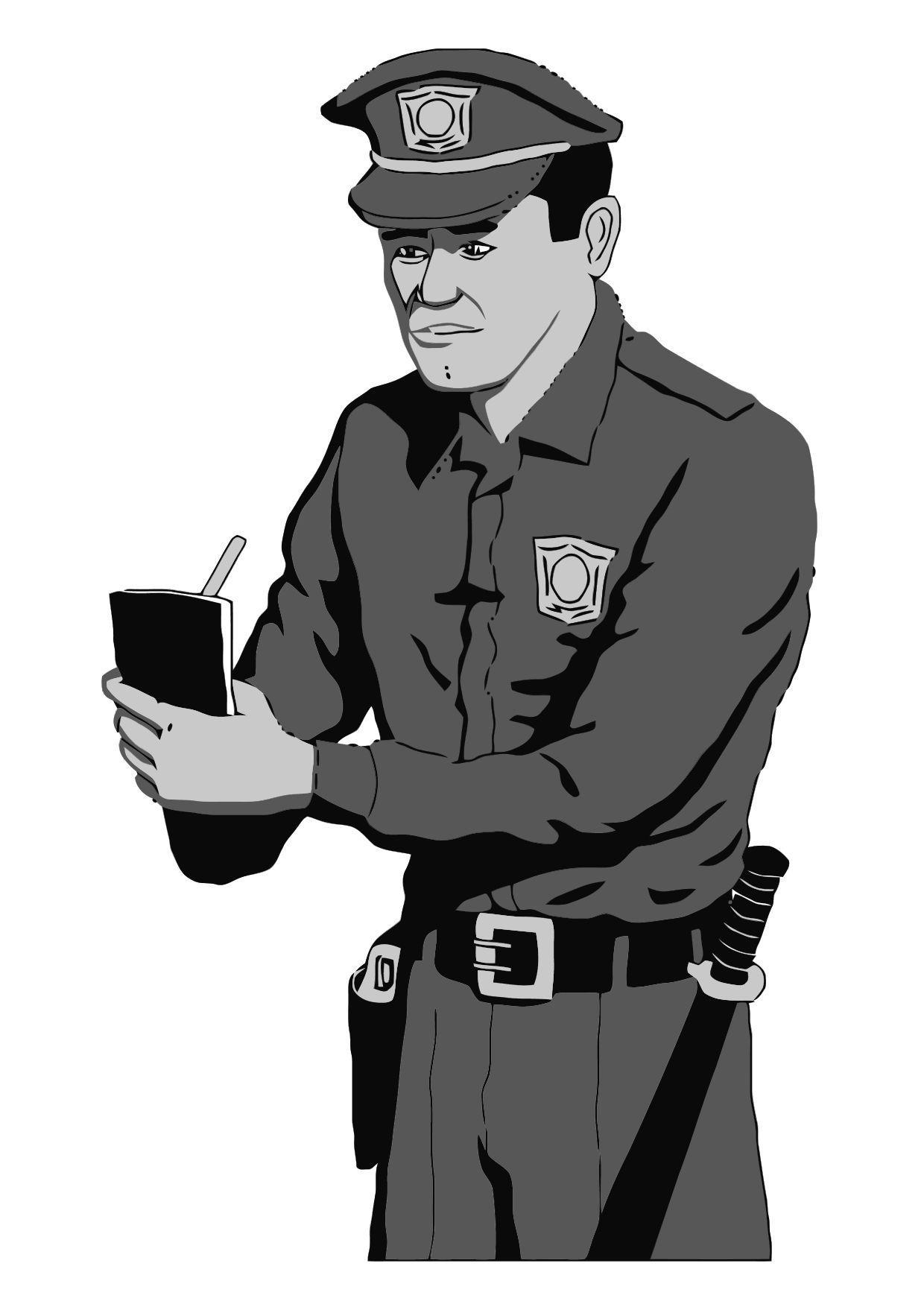 Dibujo para colorear Policía - Img 11884