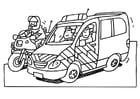 Dibujo para colorear Policía