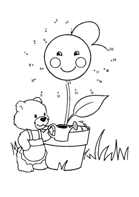 Dibujo para colorear Poner agua - Img 21863
