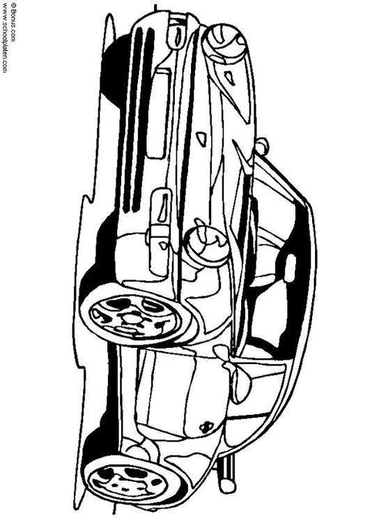 Dibujo para colorear Porsche 911 Turbo - Img 5443